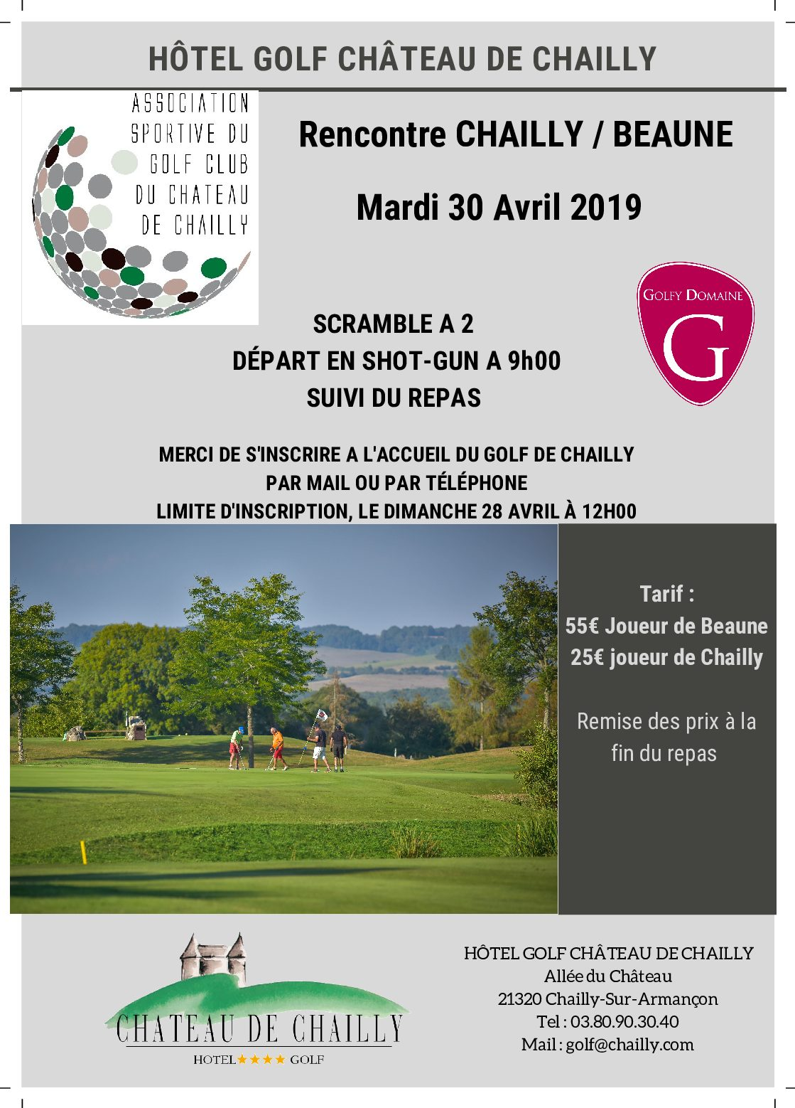 Rencontre Inter-clubs Chailly-Beaune (30 avril 2019)