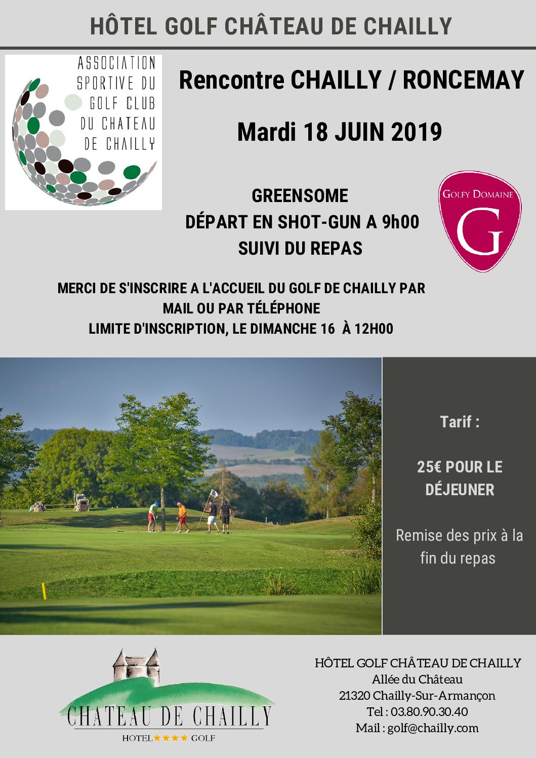 Rencontre Interclub Chailly – Roncemay