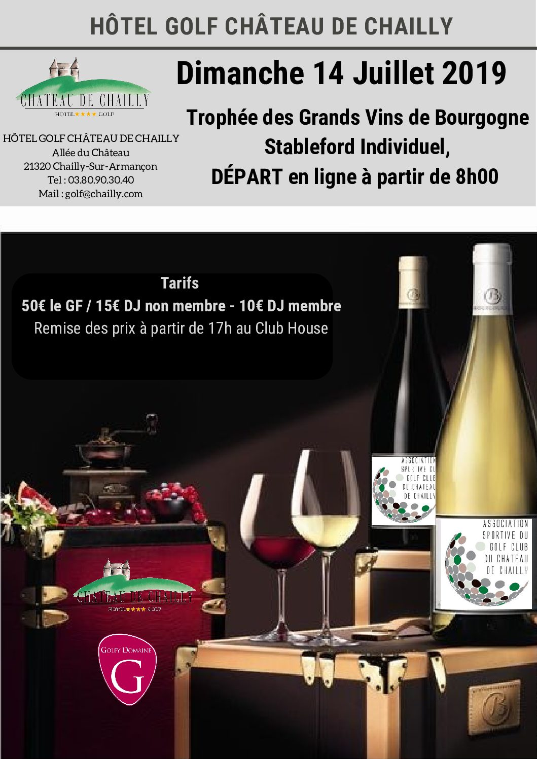 Trophée des grands vins de Bourgogne – 14 juillet 2019