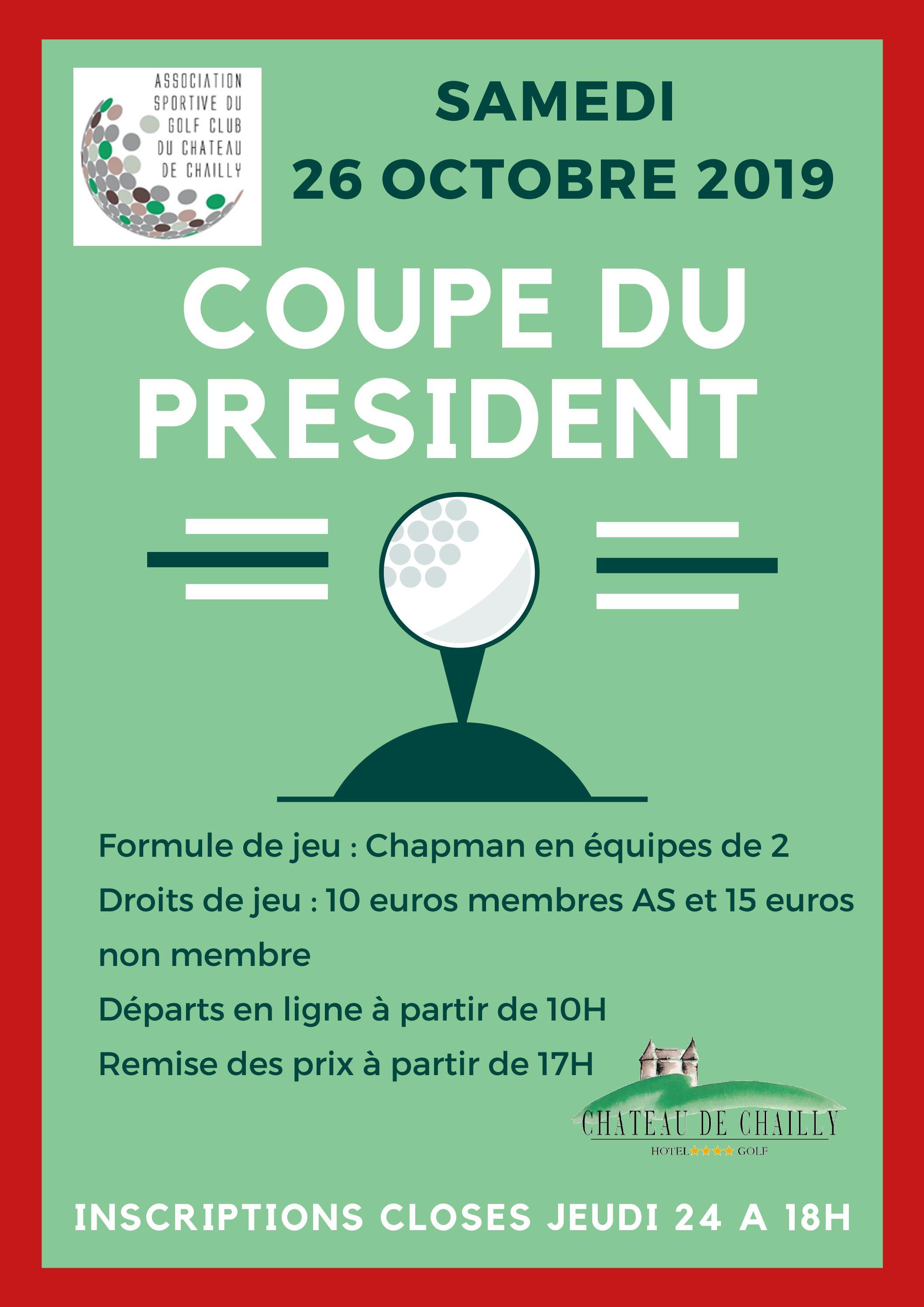 Coupe du président – samedi 26 octobre 2019