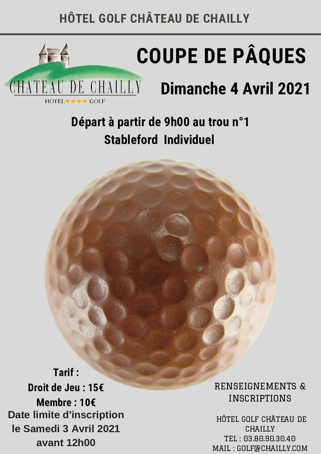 Compétition – Coupe de Pâques – DIM 4 AVRIL 2021