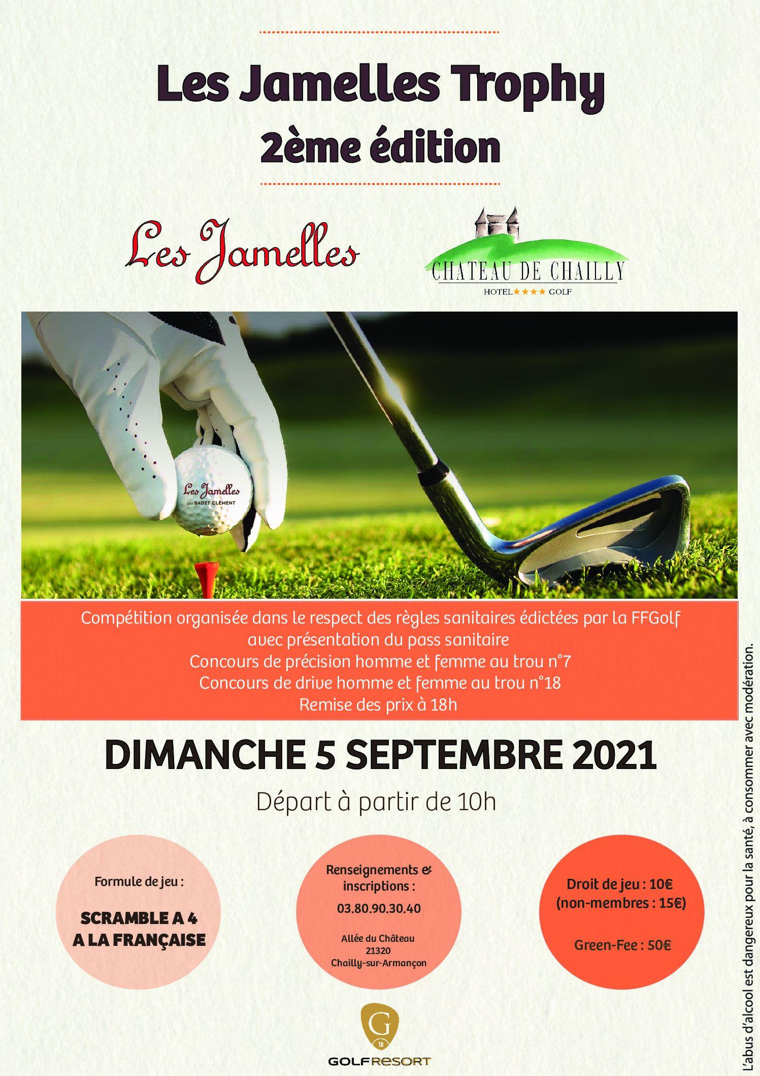Compétitions Les Jamelles Trophy – 5 Septembre – Scramble à 4 à la française