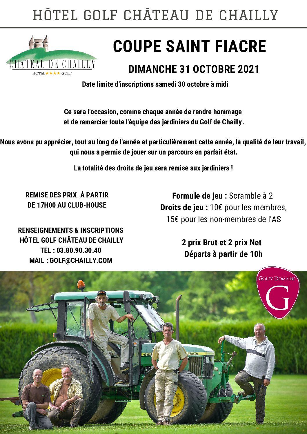 COUPE Saint Fiacre – Scramble à 2 – Dimanche 31 Octobre